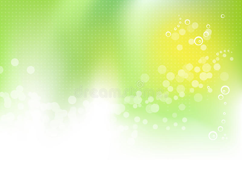 Abstract green floral spring background stock illustration
