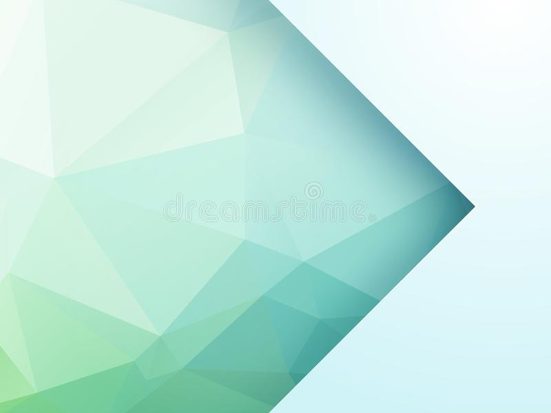 Abstract green geometric background with arrow vector illustration