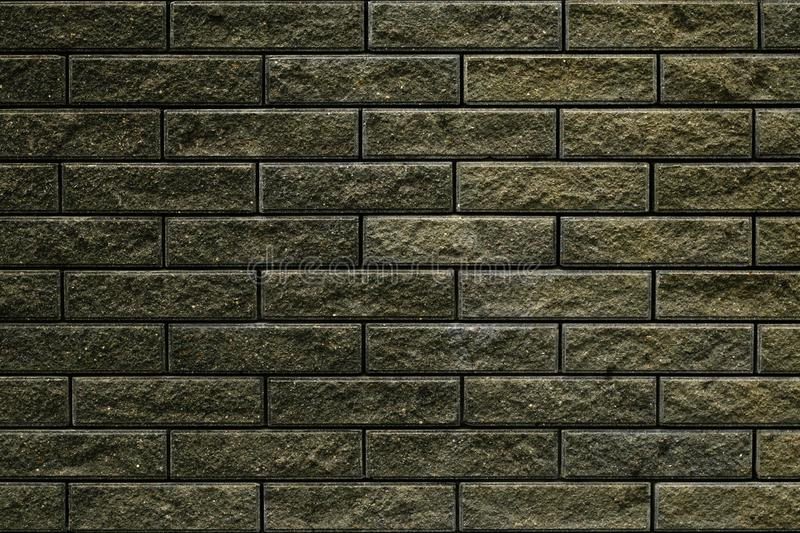 Abstract green gray brick wall texture for wallpaper design. Brick wall grunge background. Wall cement texture. Dark grey stone ba stock photography