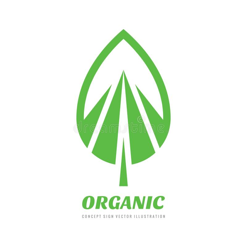 Abstract green leaf - concept business logo template vector illustration. Nature creative sign. Organic product symbol. Graphic royalty free illustration