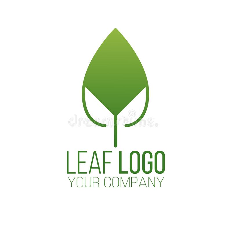 Abstract green leaf logo icon vector design. Landscape design, garden, Plant, nature and ecology vector logo. Ecology Logotype. Concept icon. Vector stock illustration