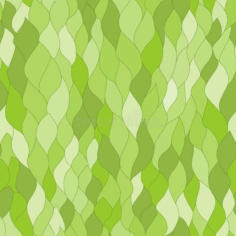 Abstract Green Leafs Seamless Texture Stock Photo