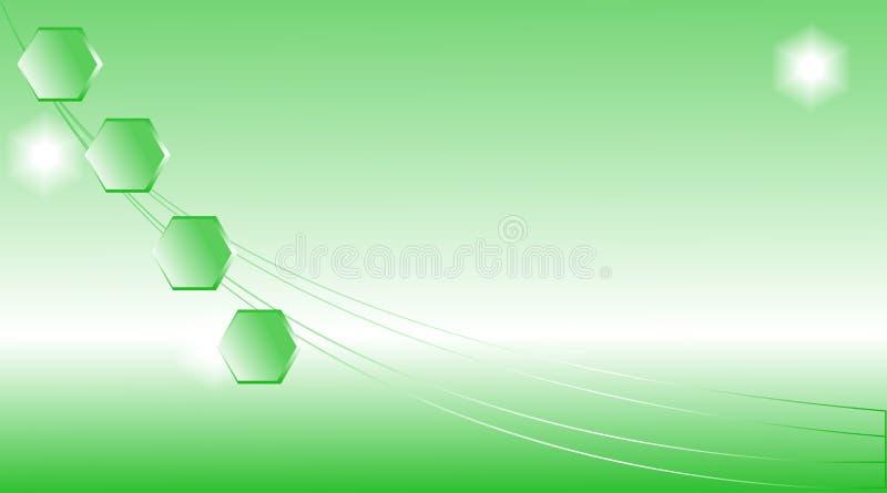 Abstract green light background. vector illustration