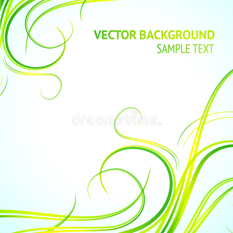 Abstract green lines stock illustration