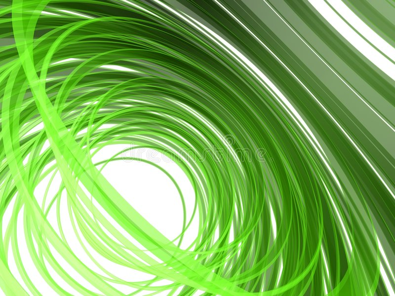 Abstract green lines vector illustration