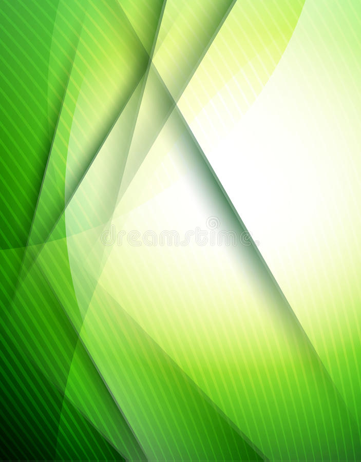 Abstract green lines design template royalty free illustration
