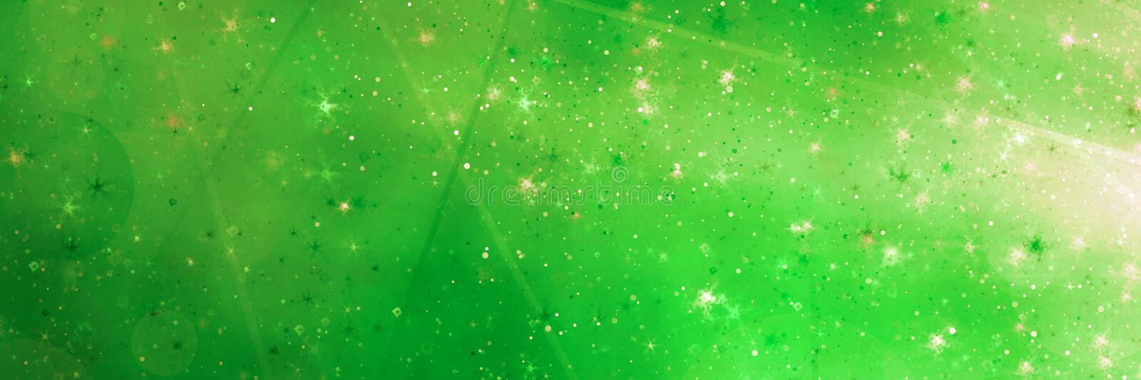 Abstract green magic panoramic background royalty free stock images