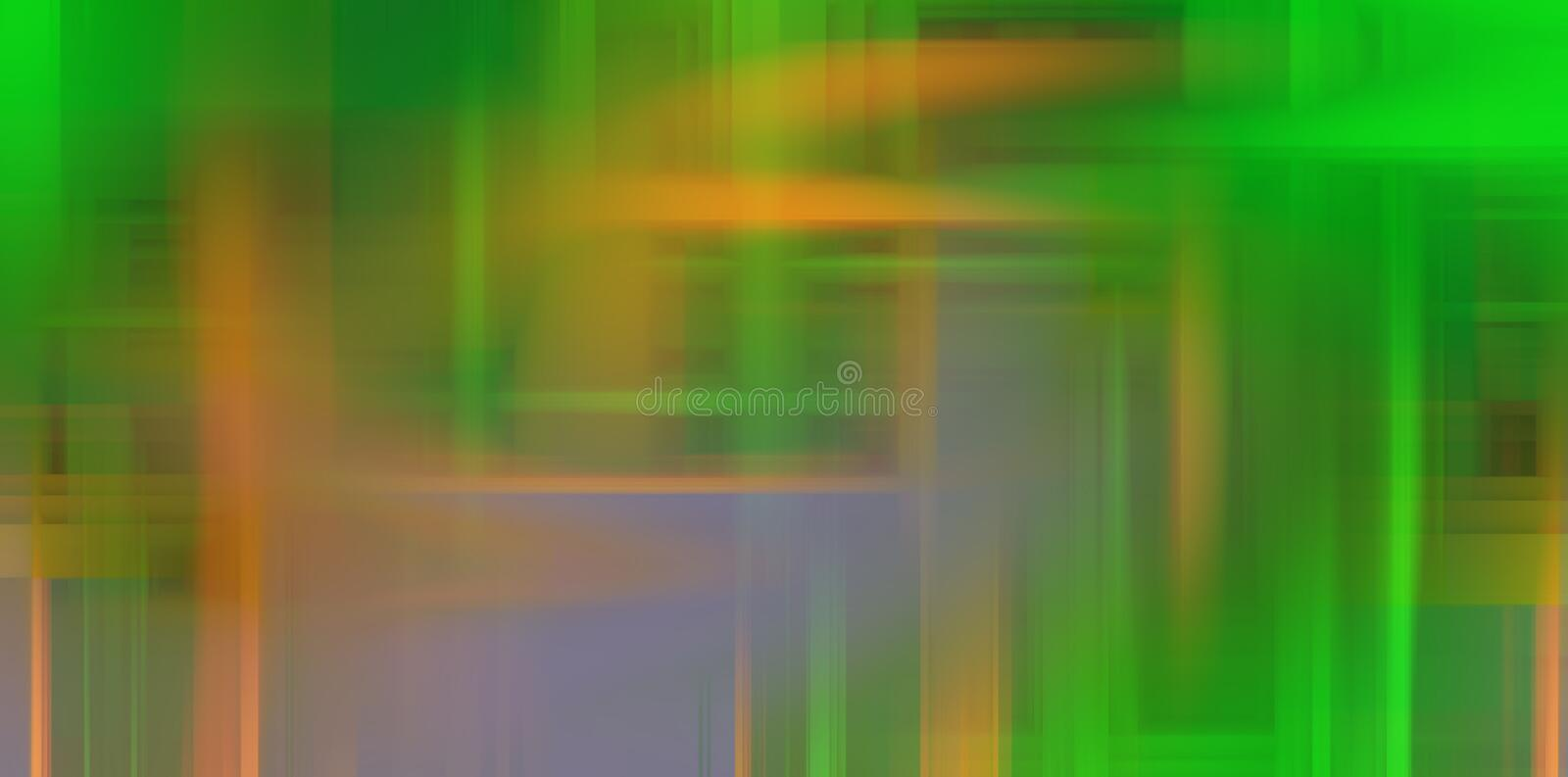 Abstract green orange lights background, colors, shades abstract graphics. Abstract background and texture stock image
