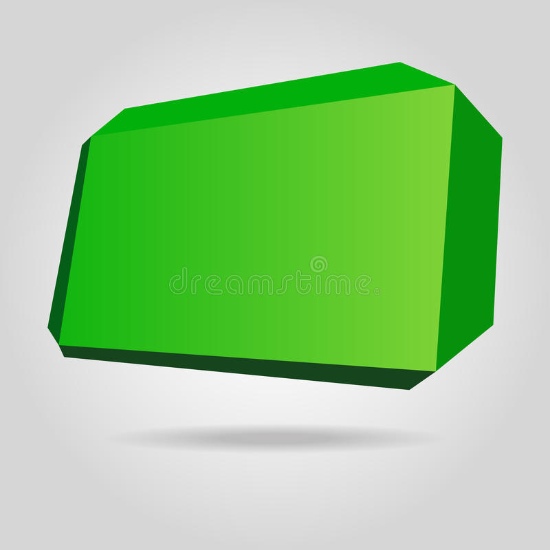 Abstract green origami speech bubble. royalty free illustration