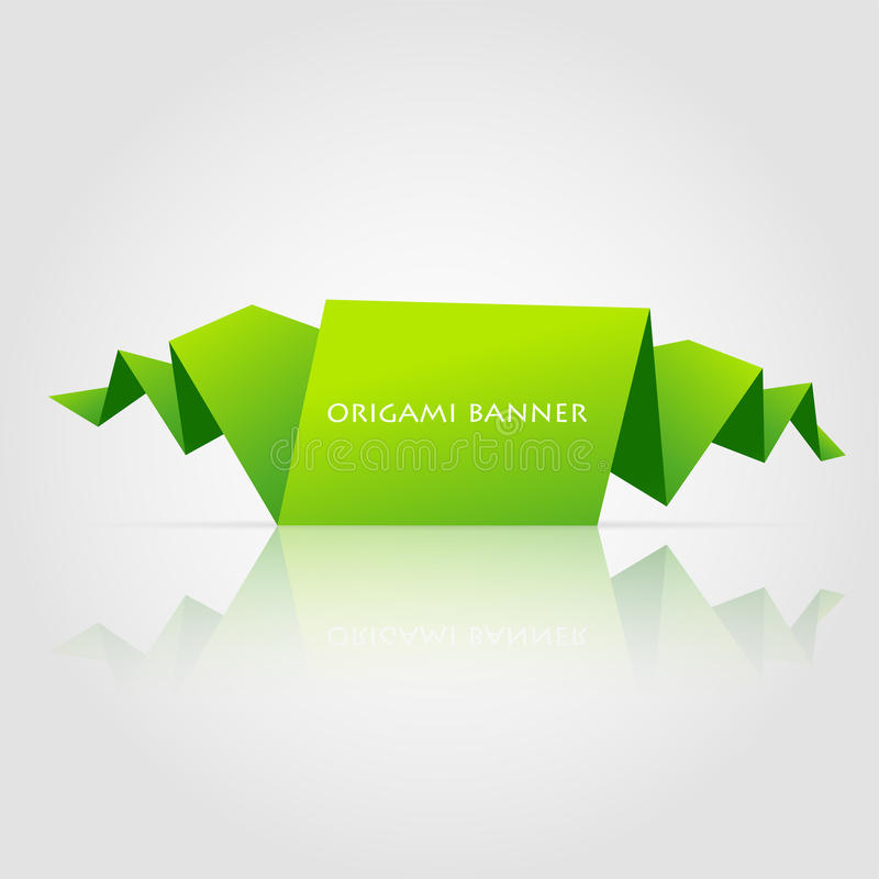 Abstract green origami speech bubble royalty free illustration
