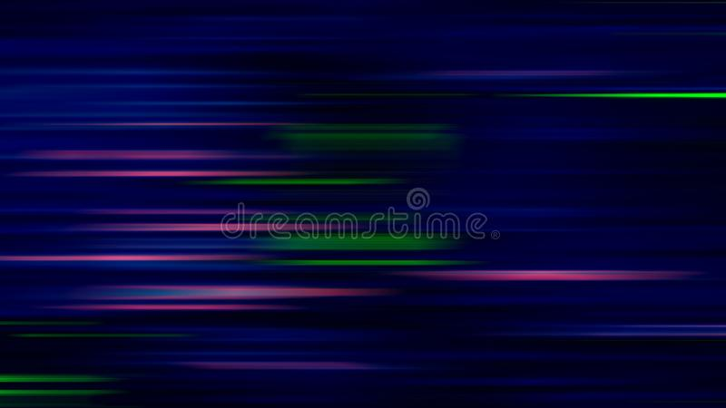 Abstract green pink bright line blur background vector illustration