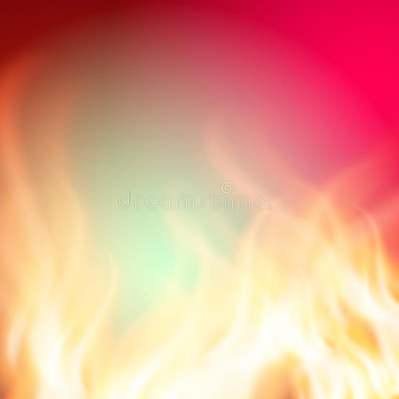 Abstract green pink fire background for your design. EPS10 vector stock illustration