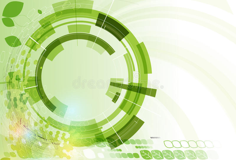 Abstract green point hexagon ecology business and technology background. High tech eco green infinity computer technology concept background vector illustration