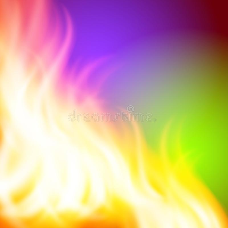 Abstract green purple fire background for your design. EPS10 vector stock illustration