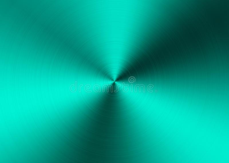 Abstract Green Radial Brushed Metal Surface for Background. Abstract image of green radial brushed metal surface for website, banner, business card, invitation stock photo