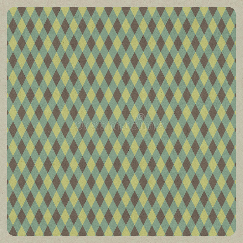 Abstract green retro pattern background, recycled paper craft royalty free illustration