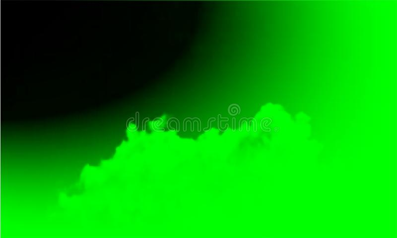 Abstract green smoke mist fog on a black background. Isolated, misty. vector illustration