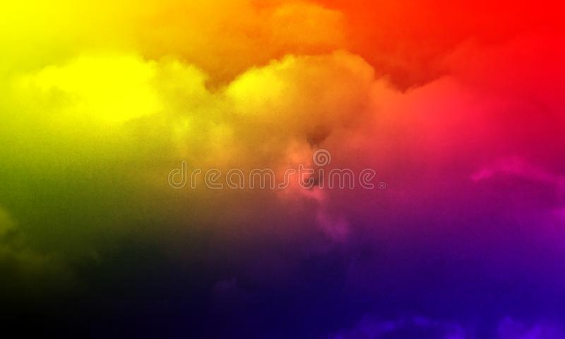 Abstract smoke mist fog on a black background. Texture, isolated. royalty free illustration
