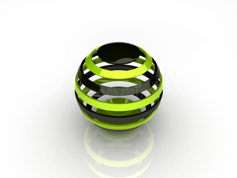 Abstract green sphere