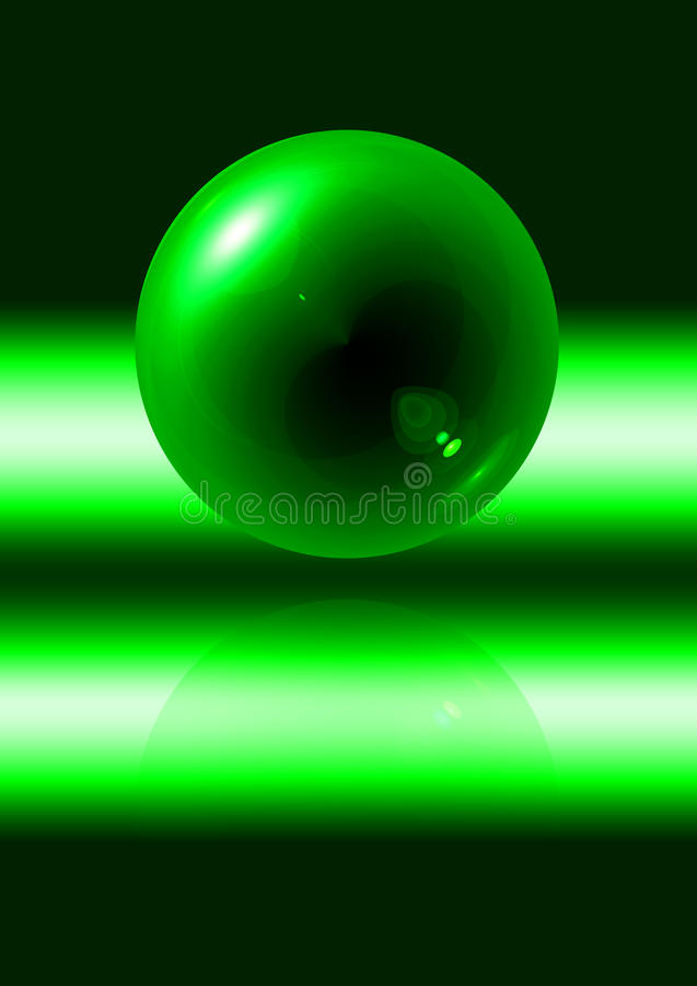 Abstract green sphere royalty free illustration