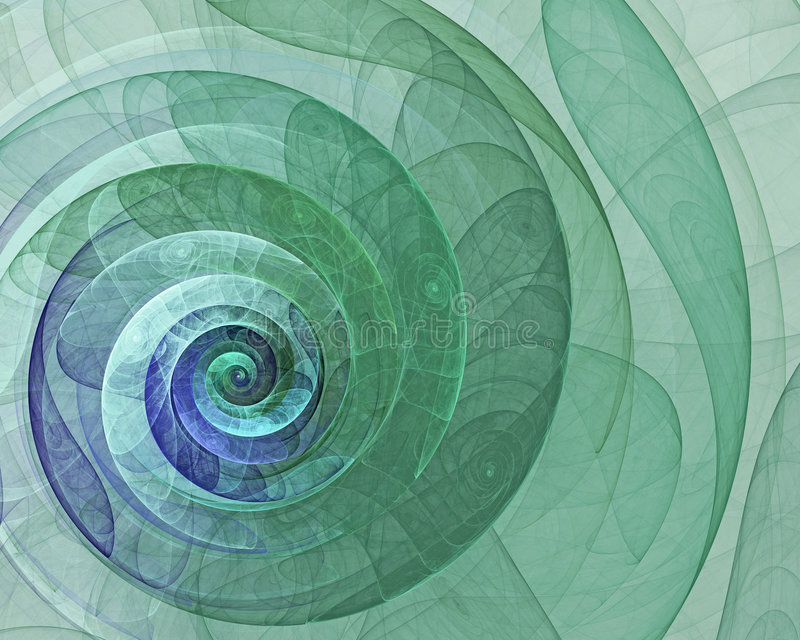 Abstract green spiral royalty free illustration