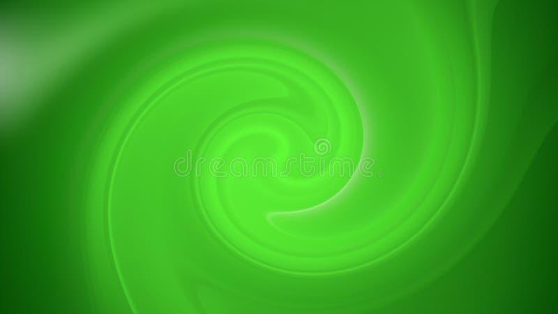 Abstract Green Spiral Background Beautiful elegant Illustration graphic art design Background. Image royalty free illustration