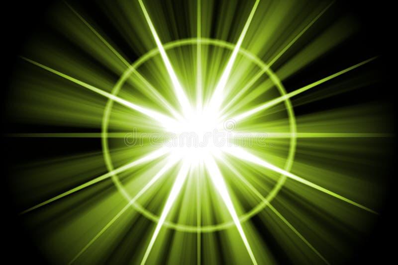 abstract green star sunburst иллюстрация штока