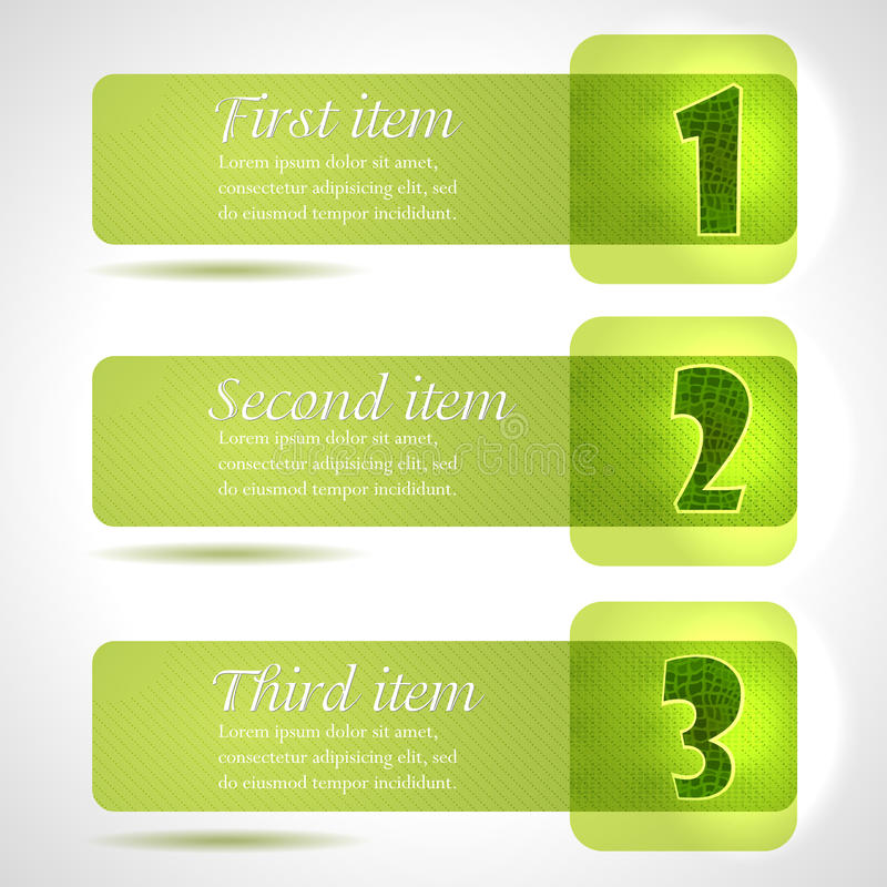 Download Abstract Green Stylish Tags With Numbers Stock Illustration - Image: 24832981