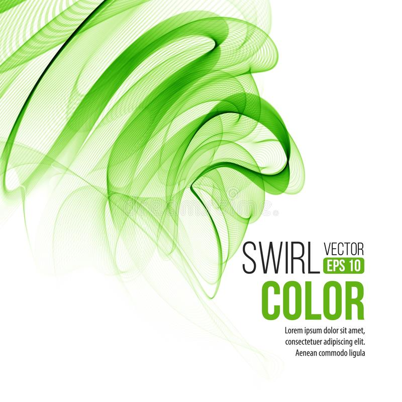 Abstract green swirl background. Vector vector illustration