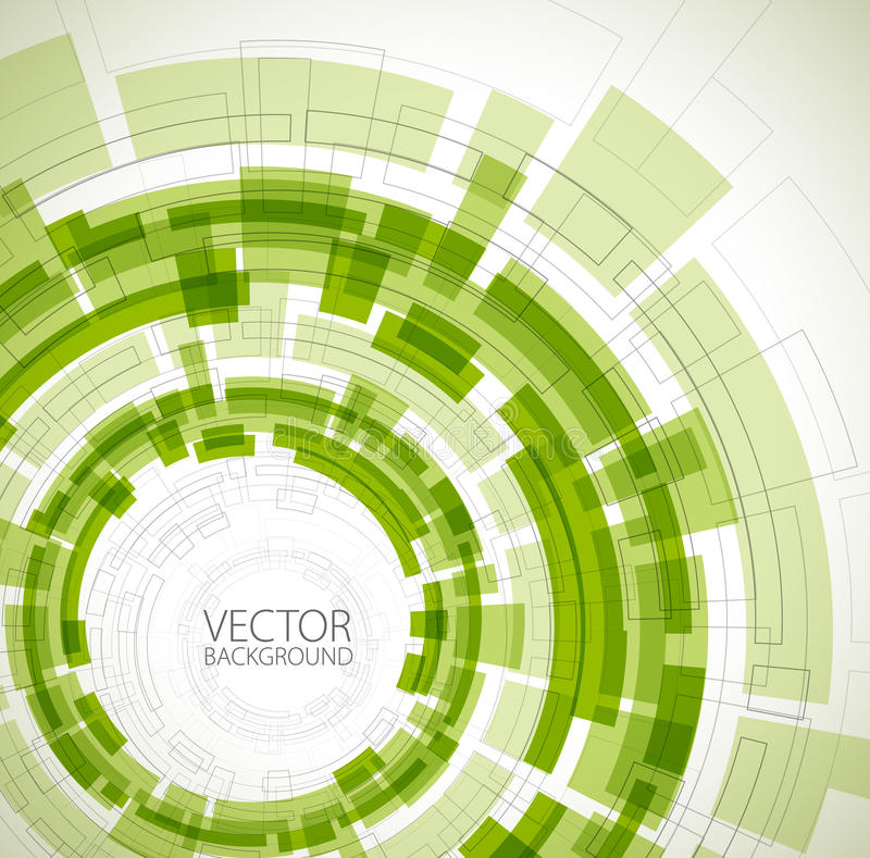 Abstract green technical background stock illustration