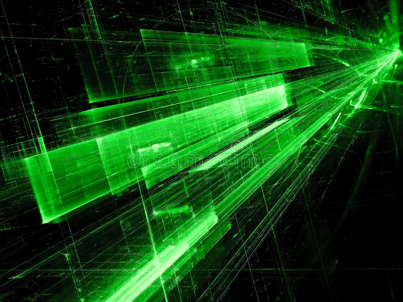Abstract green perspective background digitally generated image royalty free stock image