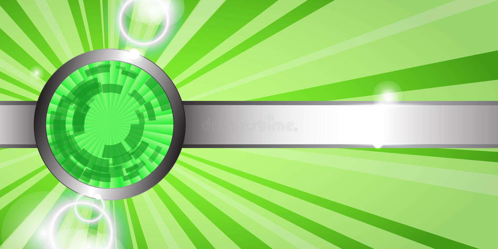 Abstract green technology background. Abstract shiny green technology background. Vector banner vector illustration