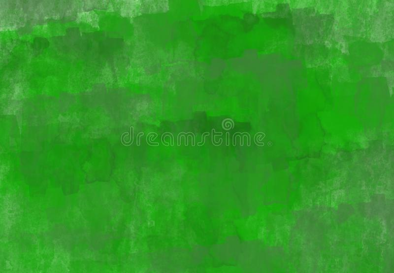 Abstract green textural background with dark green elements. Watercolor design vector illustration