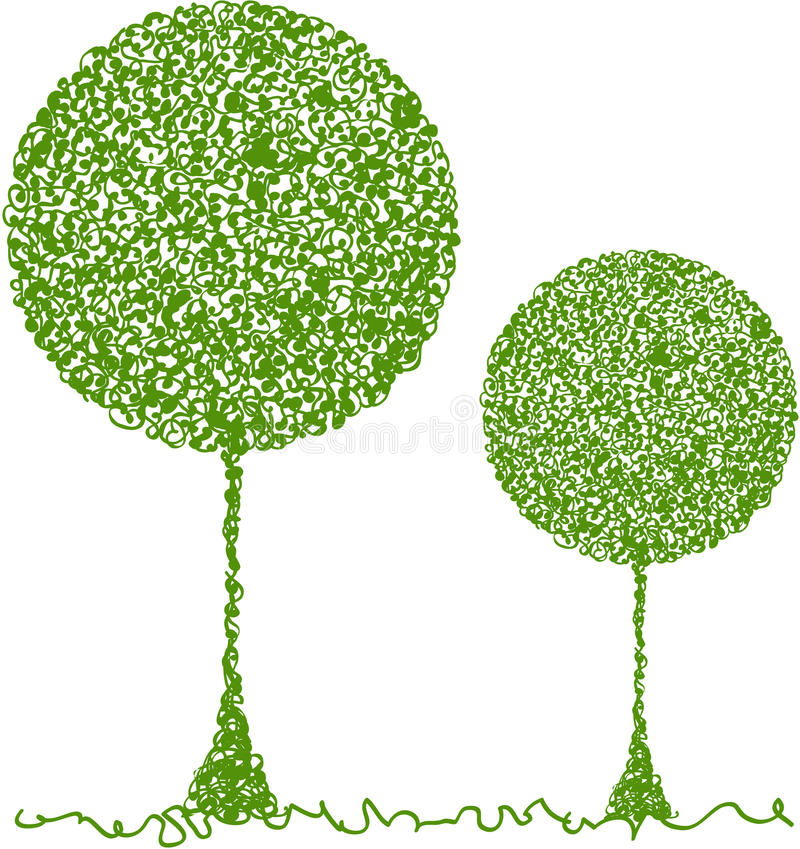 Free Abstract Green Tree Stock Photography - 13283042