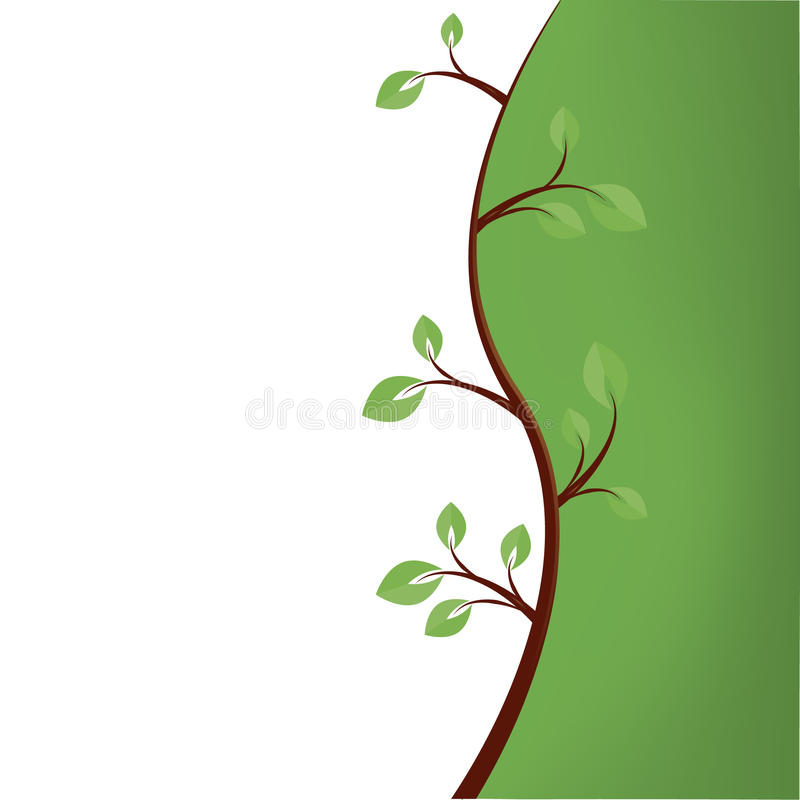 Download Abstract Green Tree Background Stock Vector - Illustration: 14555569