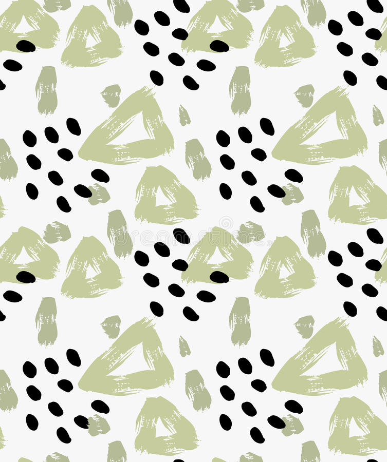 Abstract green triangle with dots royalty free illustration