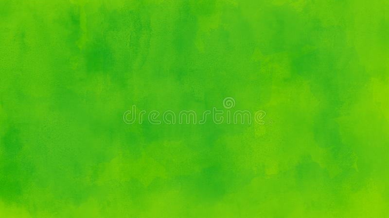 Abstract green watercolor background illustration. Simple abstract green color watercolor background illustration with visible pattern royalty free illustration