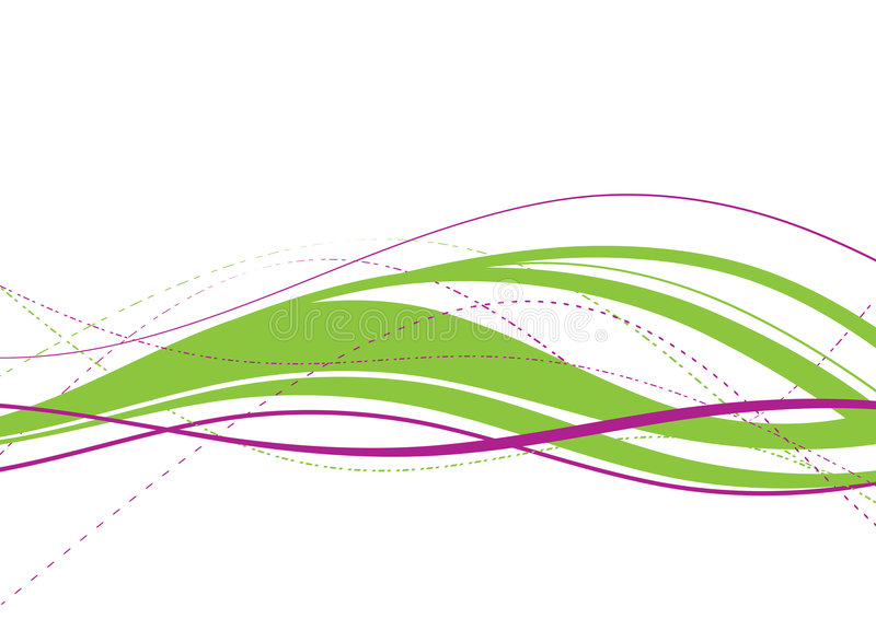 Abstract green wave vector illustration