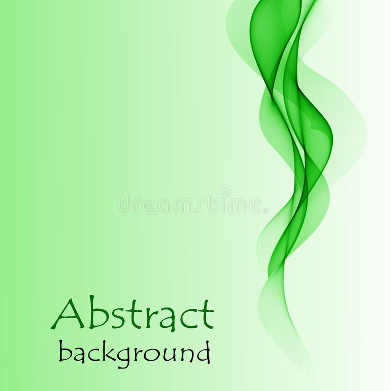 Abstract green waves on a green background royalty free stock photography