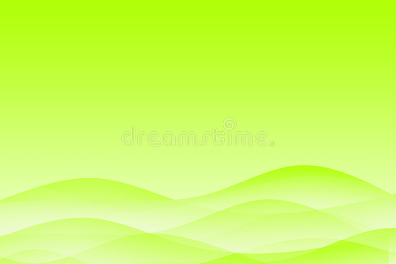 Abstract green wavy soothing background