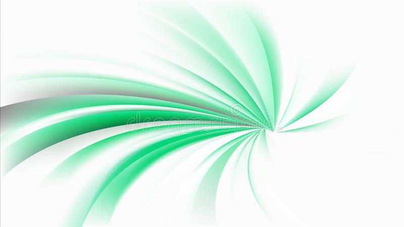 Abstract Green and White Radial Spiral Rays background Graphic. Beautiful elegant Illustration graphic art design vector illustration