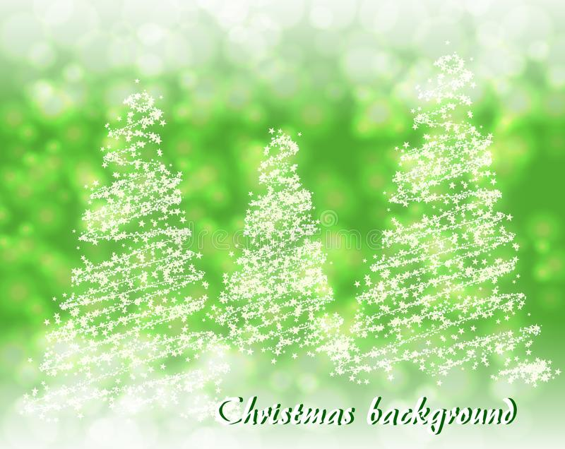 Abstract green background with abstract Christmas tree stock images