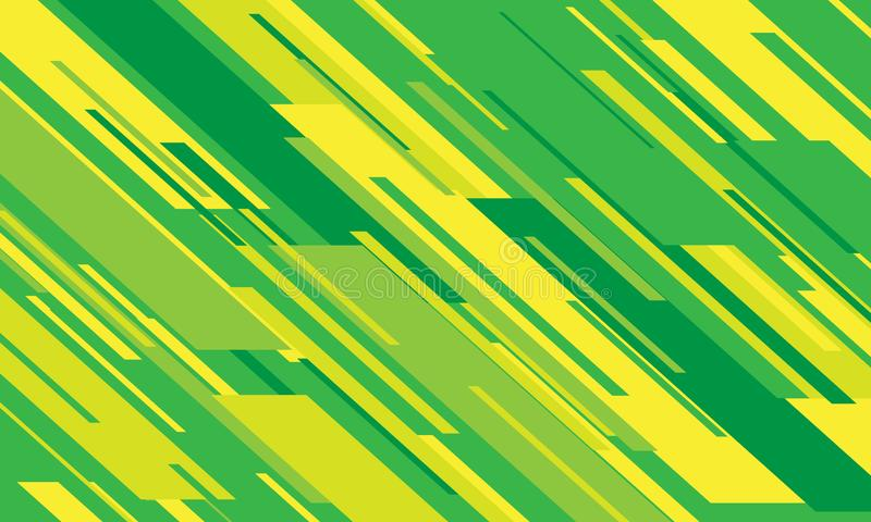 Abstract green yellow colours line speed pattern design modern futuristic background vector royalty free illustration