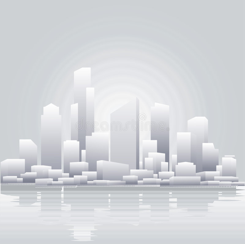 Free Abstract Grey City Background Royalty Free Stock Photos - 4242268
