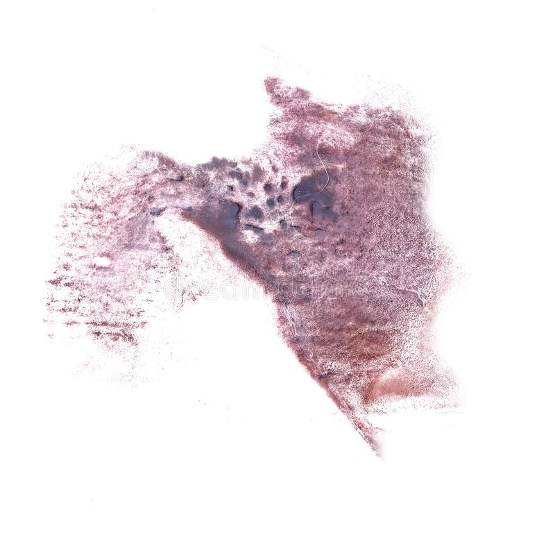 Abstract The grey drawing stroke ink watercolor brush water colo. R splash paint watercolour background royalty free stock photography