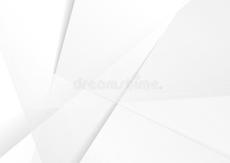 Abstract grey hi-tech polygonal corporate background royalty free illustration