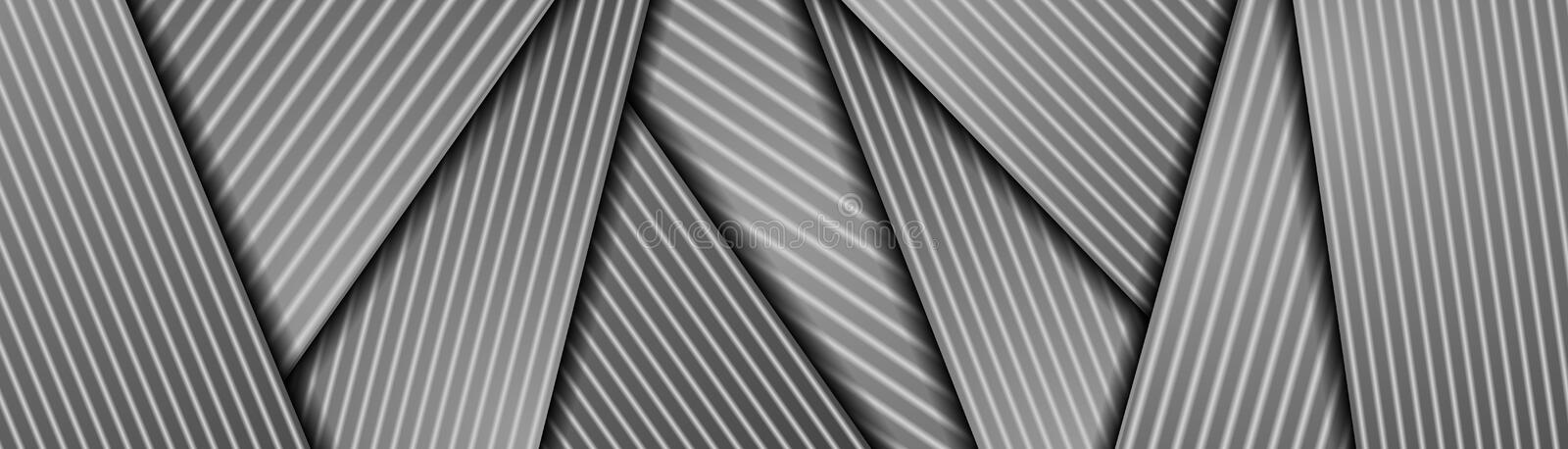 Abstract grey monochrome smooth stripes corporate banner royalty free stock photo