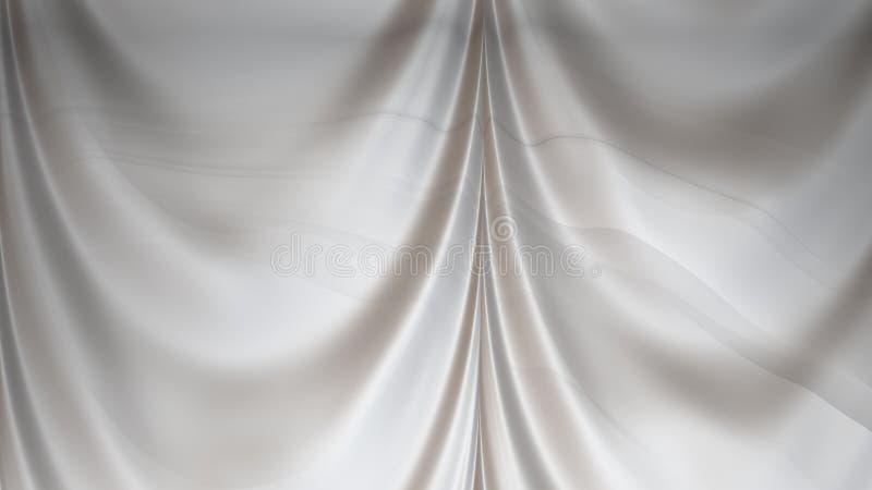 Abstract Grey Satin Drapes Background stock illustratie