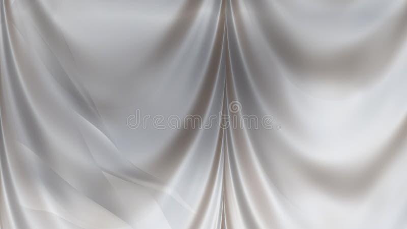 Abstract Grey Satin Drapes vector illustratie