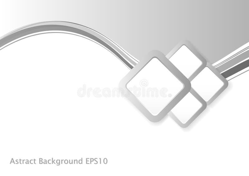 Abstract Grey Wave Background vector illustratie